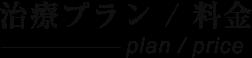 施術プラン/料金